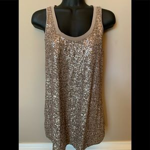 Express Gold Sequin Top